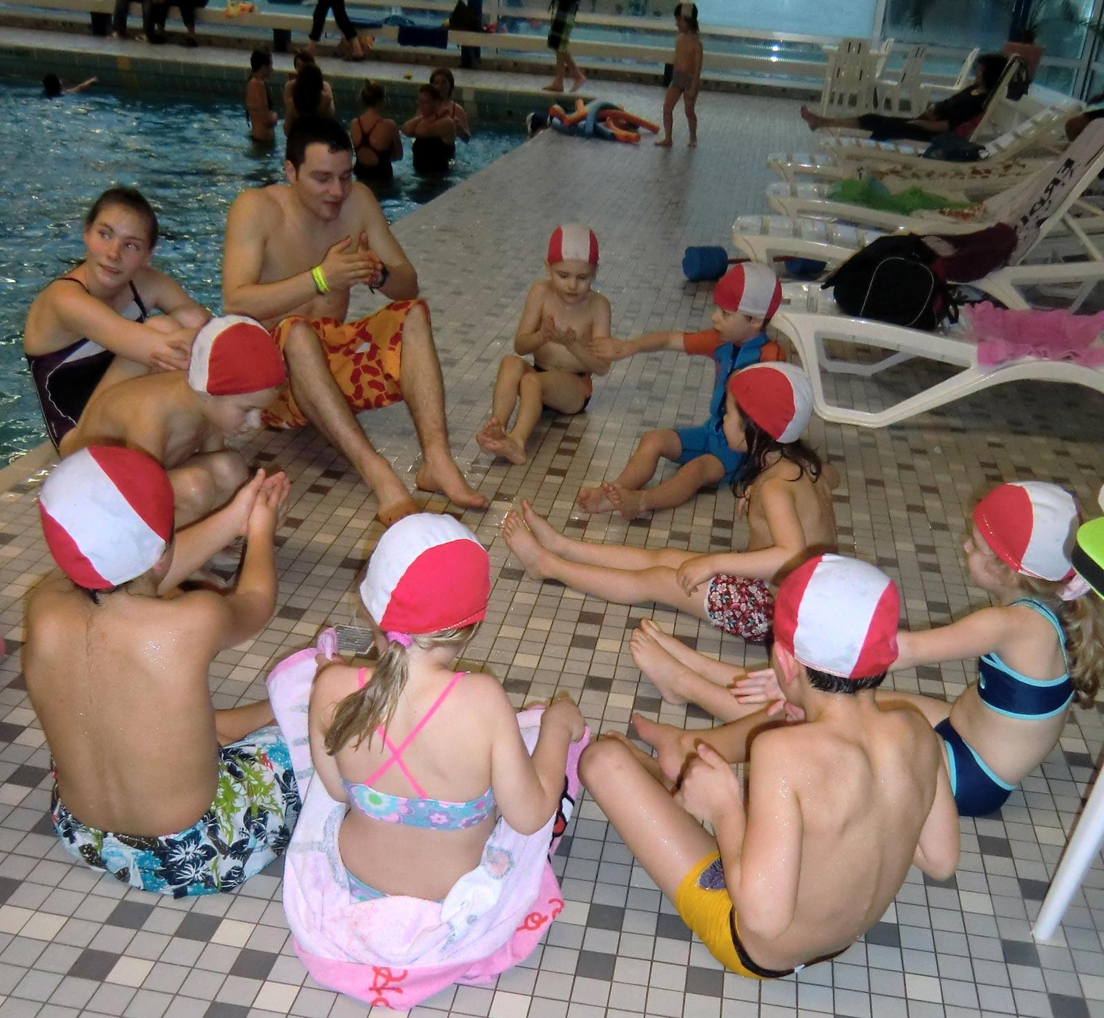 Kinderschwimmkurs für die Jüngsten.